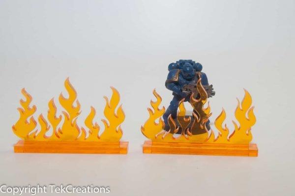 40k 50mm Flame Wall Acrylic Token