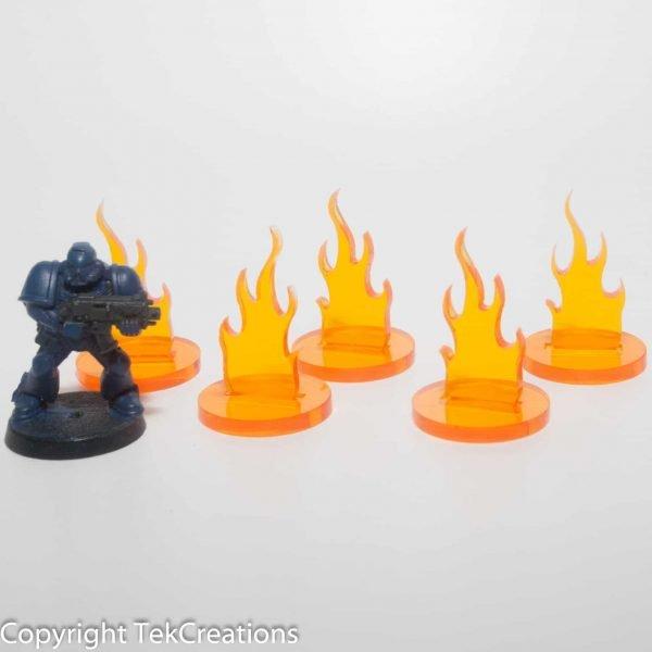 40k Flame Acrylic Token