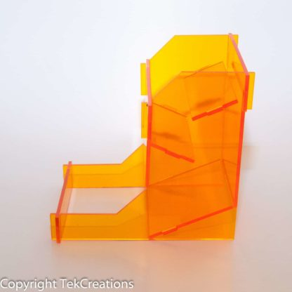 Acrylic Dice Tower Orange